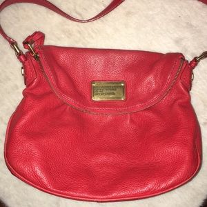 Marc Jacobs Red Leather Supply Workwear Crossbody